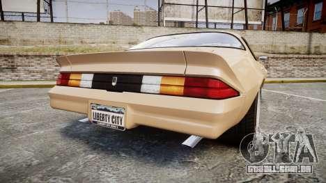 Chevrolet Camaro Z28 1979 para GTA 4 traseira esquerda vista