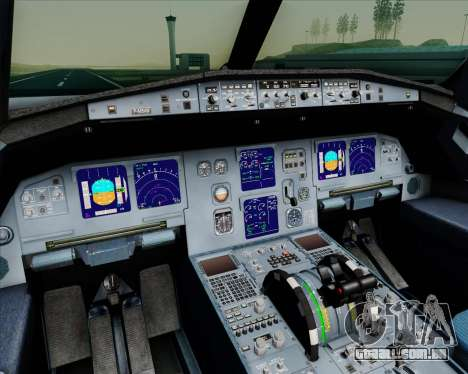 Airbus A321-200 Gulf Air para GTA San Andreas interior