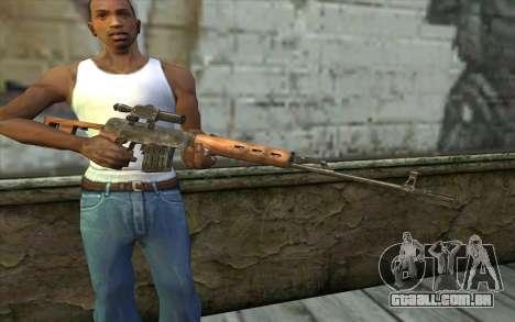 СВД (Battlefield: Vietnam) para GTA San Andreas terceira tela