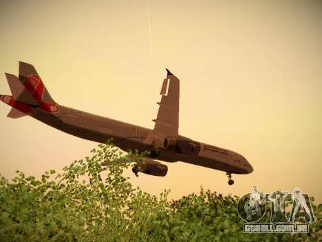 Airbus A321-232 jetBlue Boston Red Sox para GTA San Andreas interior
