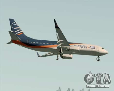 Boeing 737-800 Batavia Air (New Livery) para GTA San Andreas vista superior