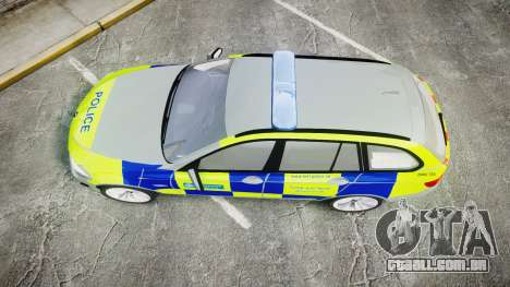 BMW 530d F11 Metropolitan Police [ELS] para GTA 4 vista direita