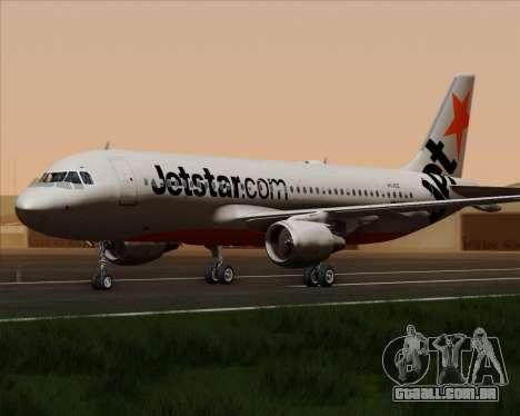 Airbus A320-200 Jetstar Airways para GTA San Andreas vista traseira