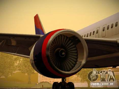 Boeing 757-232 Delta Airlines para o motor de GTA San Andreas