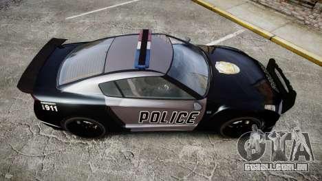 GTA V Annis Elegy RH8 Police [ELS] para GTA 4 vista direita