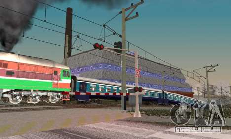 Novas texturas para o tráfego ferroviário para GTA San Andreas por diante tela