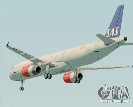 Airbus A321-200 Scandinavian Airlines System para GTA San Andreas vista inferior