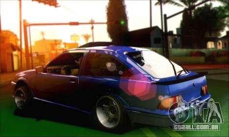 Ford Sierra Stanced para GTA San Andreas esquerda vista
