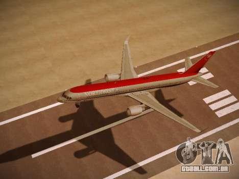 Boeing 757-251 Northwest Airlines para GTA San Andreas vista traseira