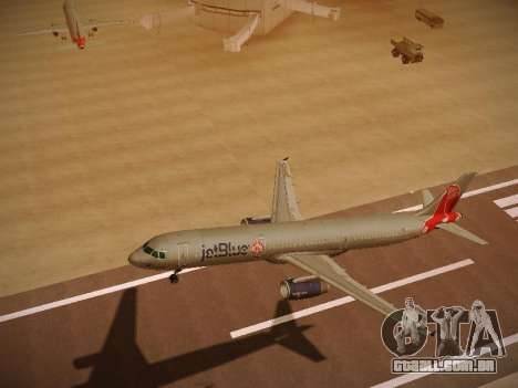 Airbus A321-232 jetBlue Boston Red Sox para GTA San Andreas vista interior