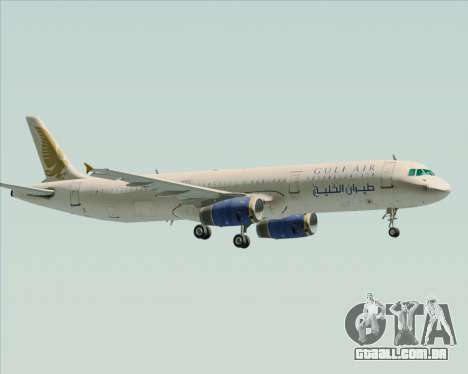 Airbus A321-200 Gulf Air para GTA San Andreas vista interior