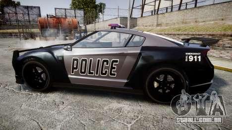 GTA V Annis Elegy RH8 Police [ELS] para GTA 4 esquerda vista