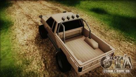 Karin Rebel 4x4 GTA 5 para GTA San Andreas traseira esquerda vista