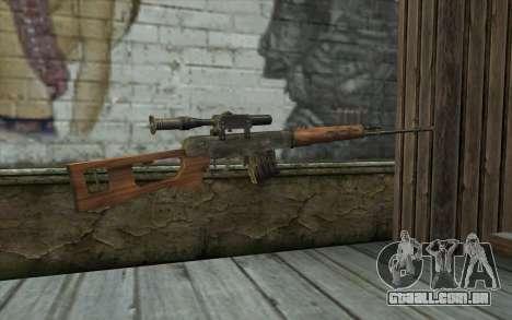 СВД (Battlefield: Vietnam) para GTA San Andreas segunda tela