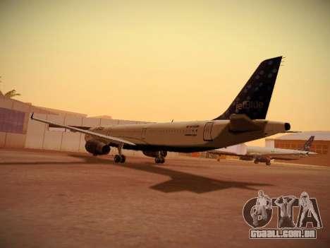 Airbus A321-232 Lets talk about Blue para GTA San Andreas traseira esquerda vista