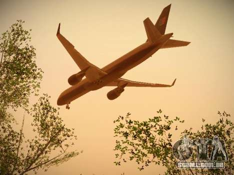 Boeing 757-224 United Airlines para GTA San Andreas vista superior