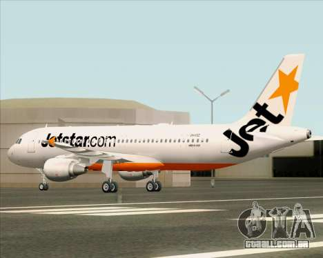 Airbus A320-200 Jetstar Airways para GTA San Andreas vista superior