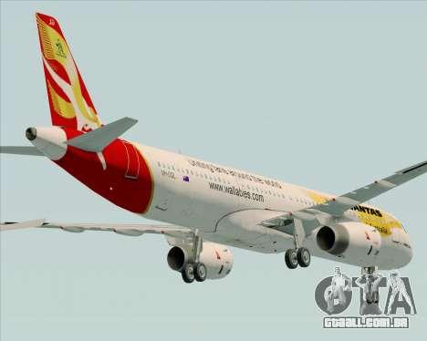 Airbus A321-200 Qantas (Wallabies Livery) para GTA San Andreas vista superior