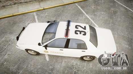 GTA V Vapid Cruiser LSS White [ELS] para GTA 4 vista direita