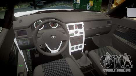 VAZ-Lada Priora 2170 para GTA 4 vista interior