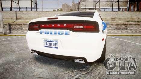 Dodge Charger RT 2013 PS Police [ELS] para GTA 4 traseira esquerda vista