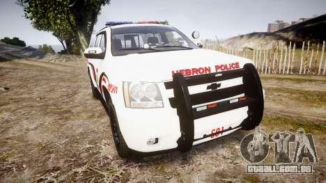 Chevrolet Suburban 2008 Police [ELS] Red & Blue para GTA 4