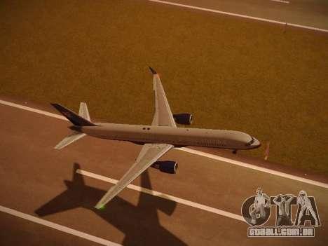 Boeing 757-224 United Airlines para o motor de GTA San Andreas