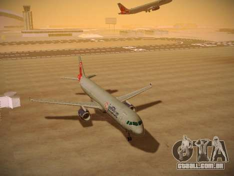 Airbus A321-232 jetBlue Boston Red Sox para GTA San Andreas vista traseira