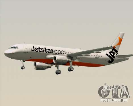 Airbus A320-200 Jetstar Airways para GTA San Andreas vista inferior