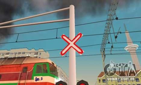 Novas texturas para o tráfego ferroviário para GTA San Andreas terceira tela