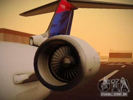 Bombardier CRJ-700 Delta Connection para GTA San Andreas vista superior