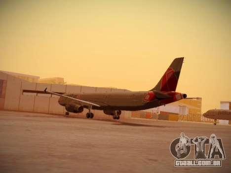 Airbus A321-232 jetBlue Boston Red Sox para GTA San Andreas traseira esquerda vista