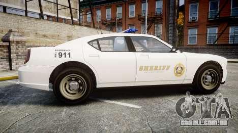 GTA V Bravado Police Buffalo [ELS] para GTA 4 esquerda vista