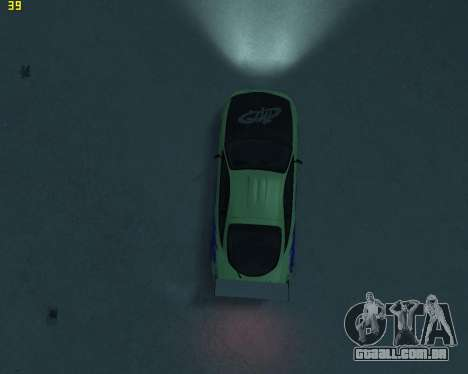 Mitsubishi Eclipse from Fast and Furious para GTA 4 vista interior