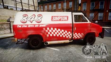 Kessler Stowaway Simpson para GTA 4 esquerda vista