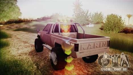Karin Rebel 4x4 GTA 5 para GTA San Andreas esquerda vista
