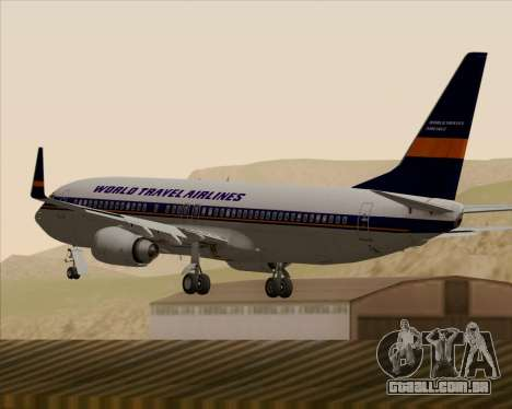 Boeing 737-800 World Travel Airlines (WTA) para GTA San Andreas vista inferior