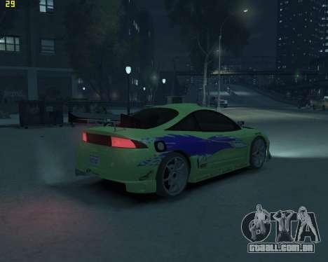 Mitsubishi Eclipse from Fast and Furious para GTA 4 traseira esquerda vista