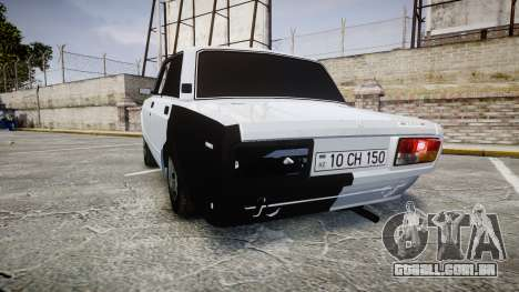 ВАЗ-2107 Avtosh Estilo para GTA 4 traseira esquerda vista