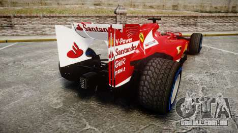 Ferrari F138 v2.0 [RIV] Alonso TFW para GTA 4 traseira esquerda vista