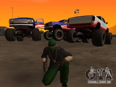 Novas texturas rodas Monstro para GTA San Andreas esquerda vista