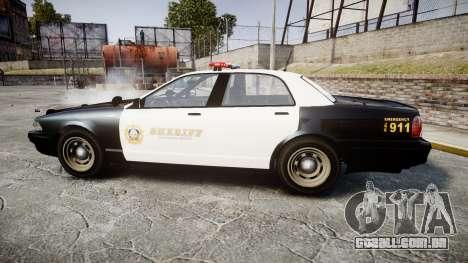 GTA V Vapid Cruiser LSS Black [ELS] para GTA 4 esquerda vista