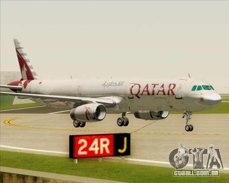 Airbus A321-200 Qatar Airways para GTA San Andreas vista inferior