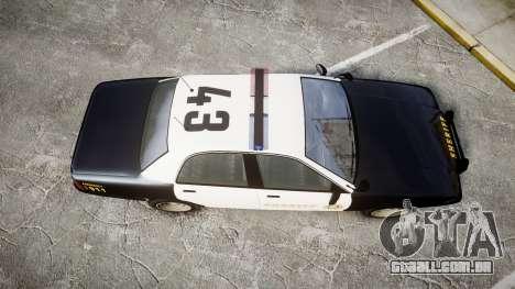 GTA V Vapid Cruiser LSS Black [ELS] para GTA 4 vista direita