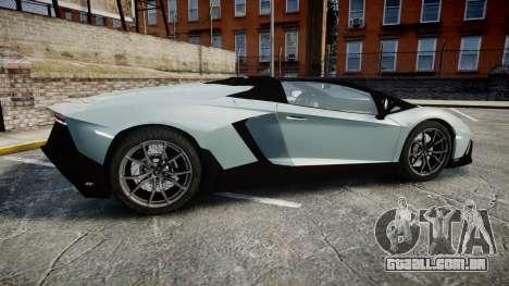 Lamborghini Aventador 50th Anniversary Roadster para GTA 4 esquerda vista