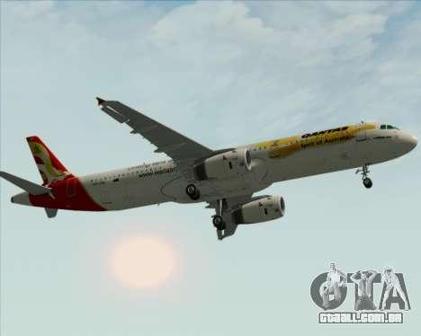 Airbus A321-200 Qantas (Wallabies Livery) para vista lateral GTA San Andreas