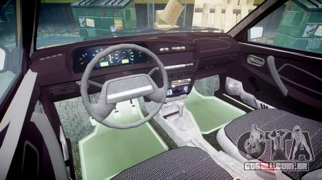 VAZ-2109 1500 eu para GTA 4 vista interior