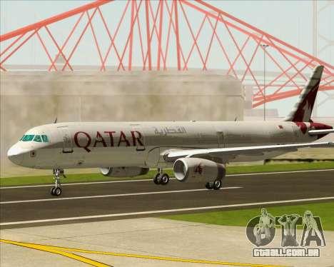 Airbus A321-200 Qatar Airways para GTA San Andreas vista interior