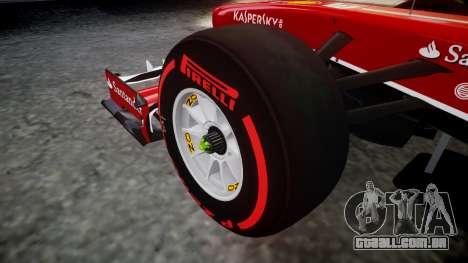 Ferrari F138 v2.0 [RIV] Massa TSSD para GTA 4 vista de volta