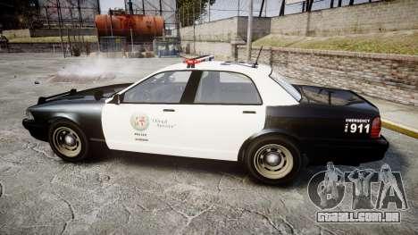 GTA V Vapid Cruiser LSP [ELS] para GTA 4 esquerda vista